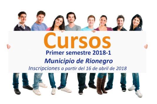 Cursos Municipio de Rionegro 2018-1